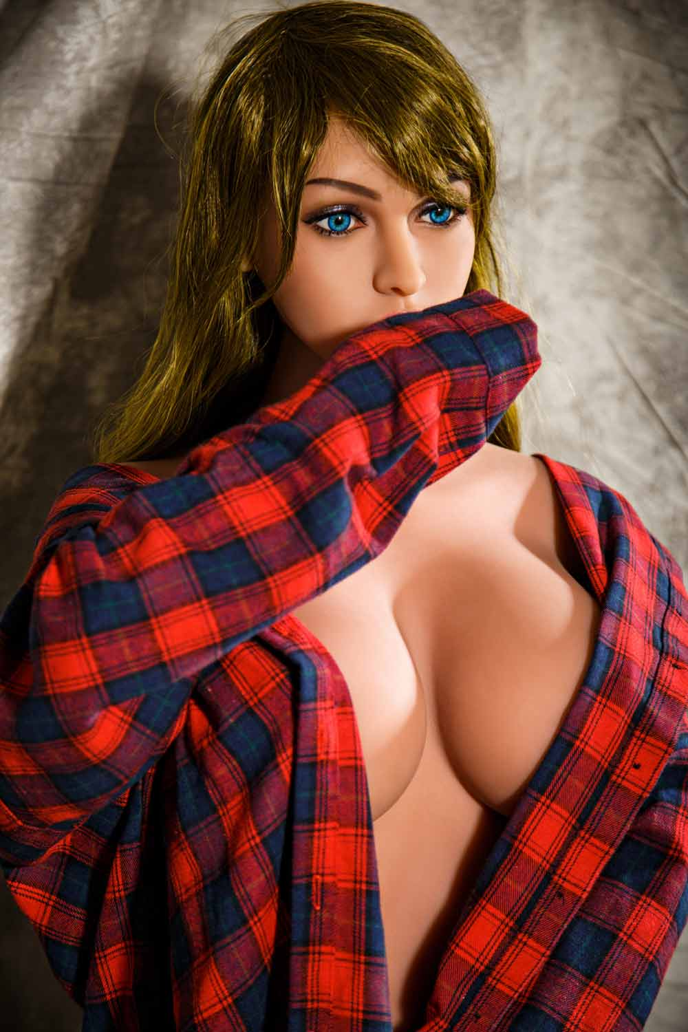 Sex doll in red shirt