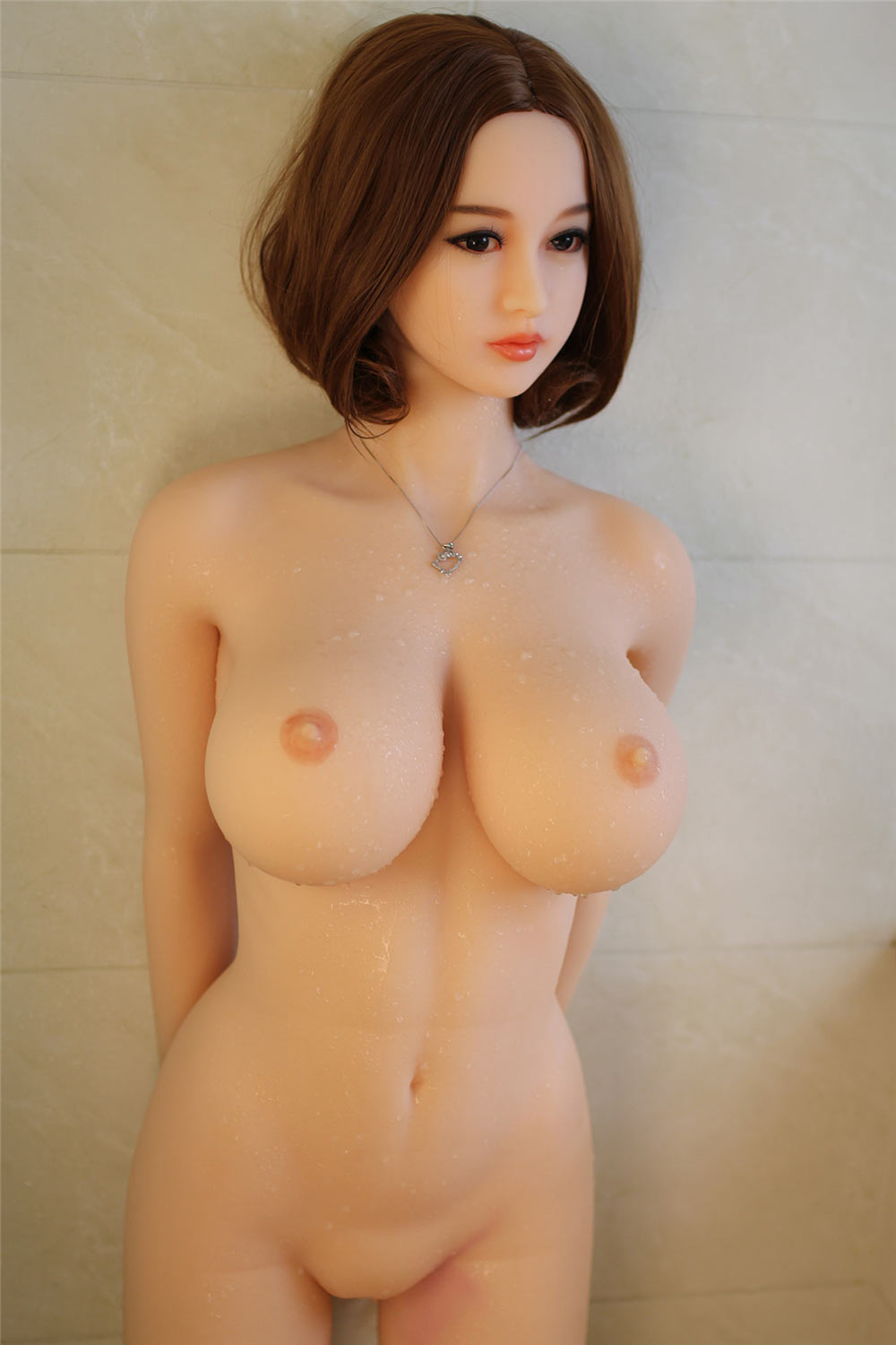 Sex doll with naked hands behind his back