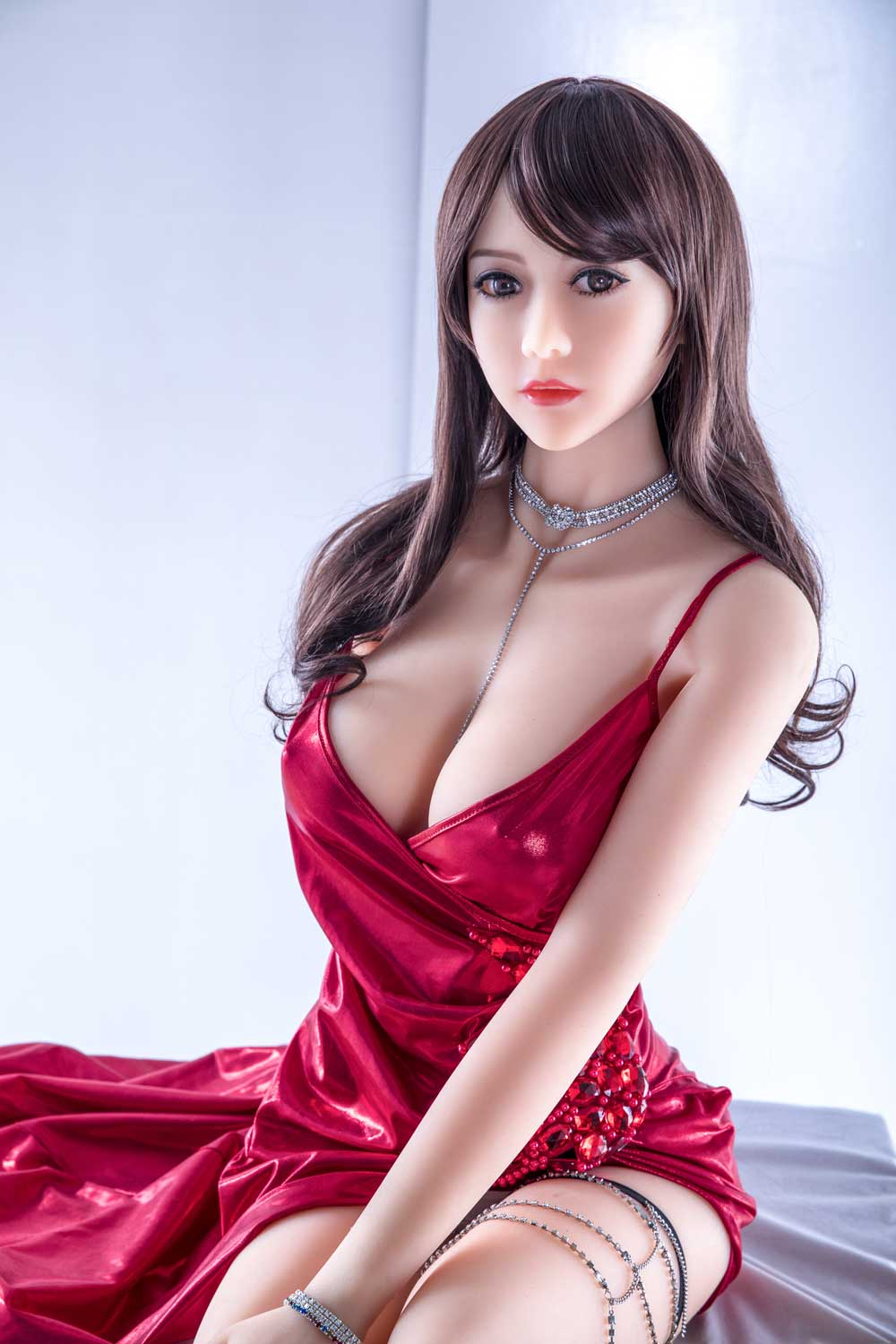 Sex doll with necklace
