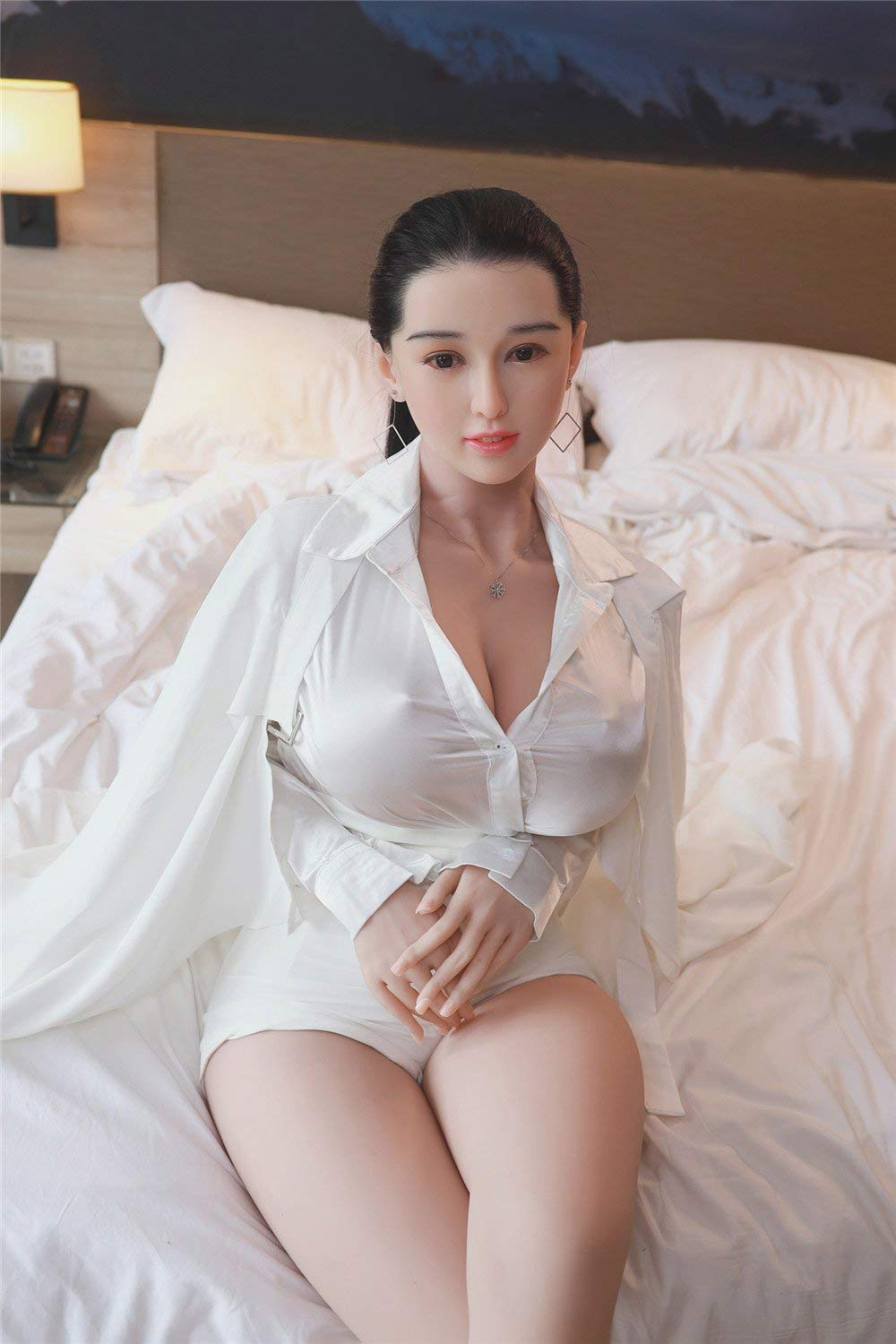 Sex doll in white shirt