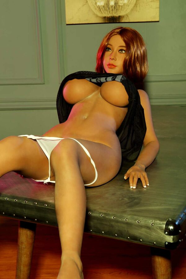 Sex doll lying on the table