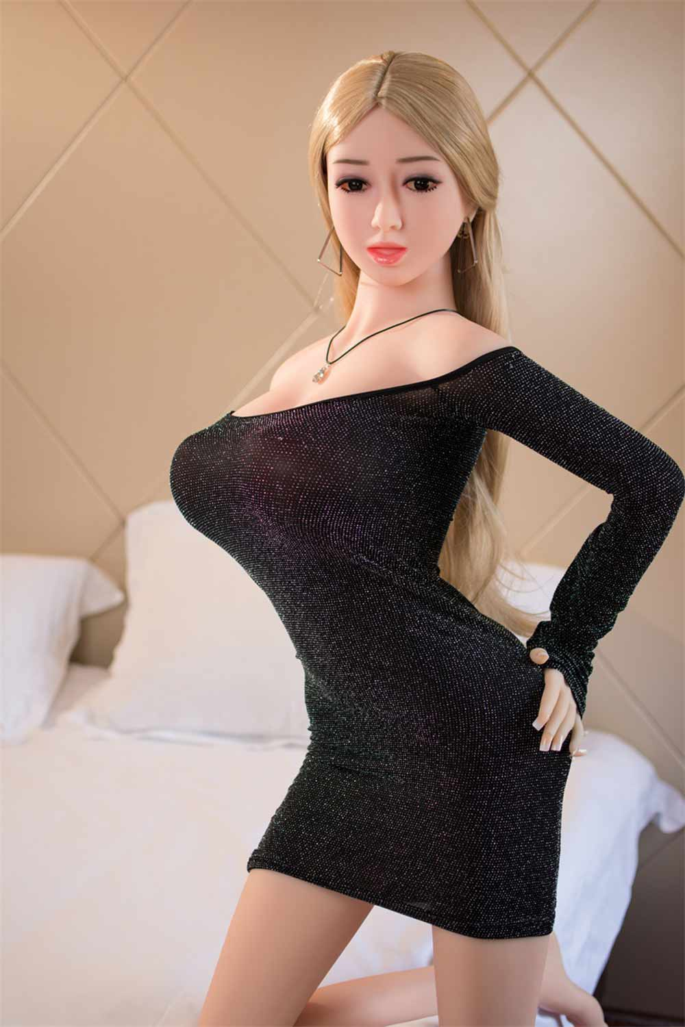 Sex doll with hands touching ass